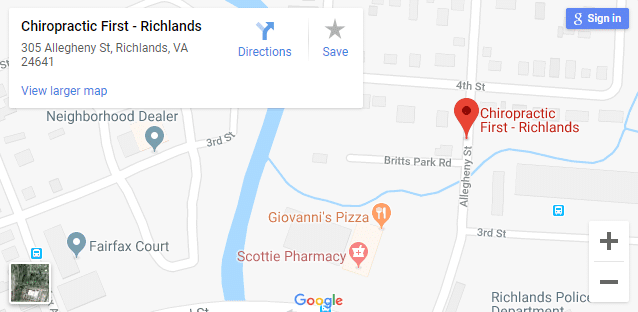 Map of Richlands Chiropractors